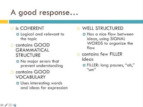 TOEFL Speaking Skills 3: Integrated Speaking Task-Read/Listen/Speak