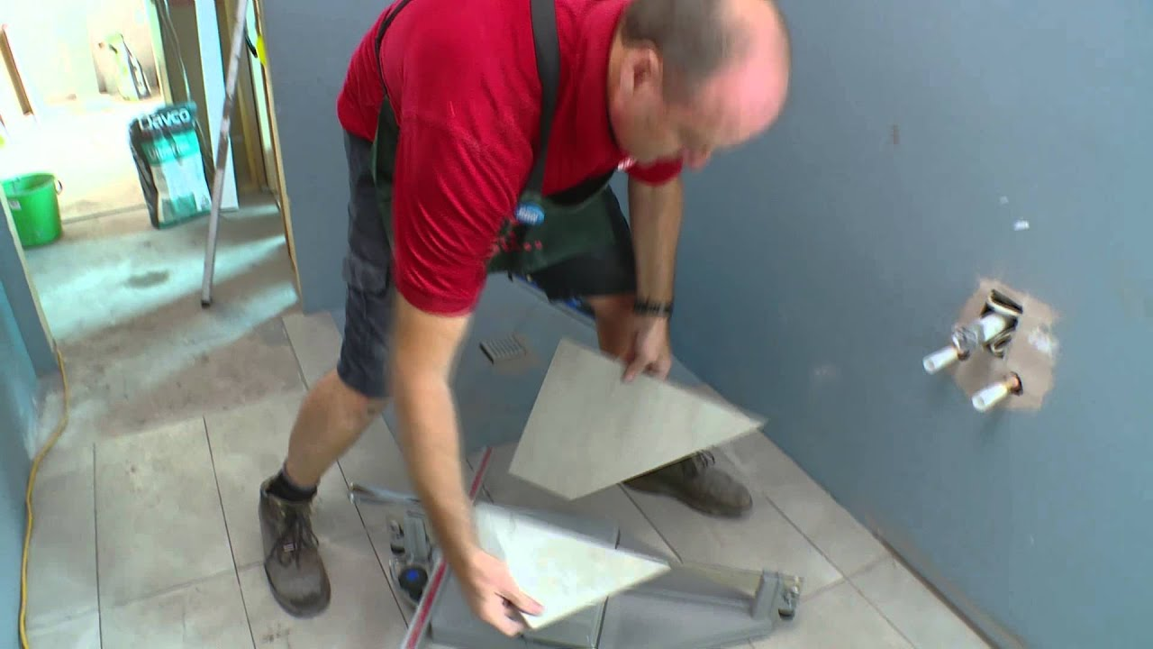 How To Tile A Shower Base - DIY At Bunnings - YouTube
