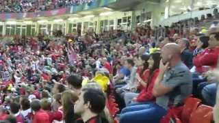 Millennium Stadium Rugby World Cup 2015,  Mexican Wave by 72,000 people