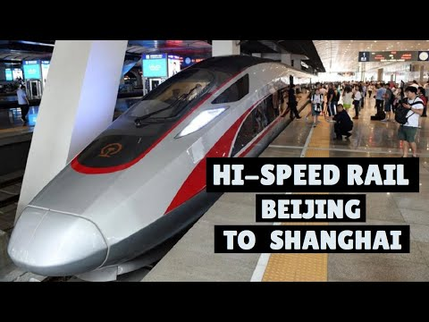 HIGH SPEED BULLET TRAIN Beijing to Shanghai: An amazing ride at 350 kmh. I try a shake test on board