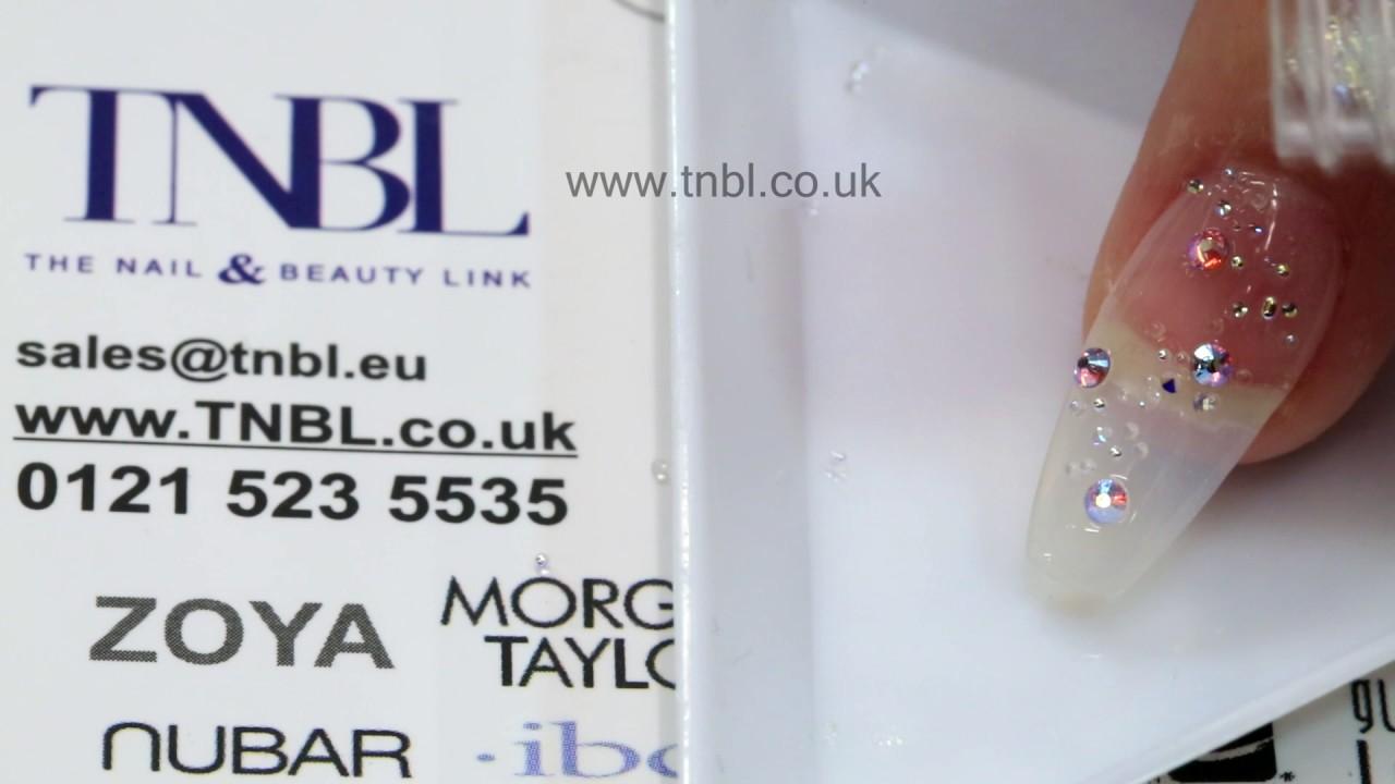 Swarovski Crystal Pixie Nail Art by TNBL - YouTube