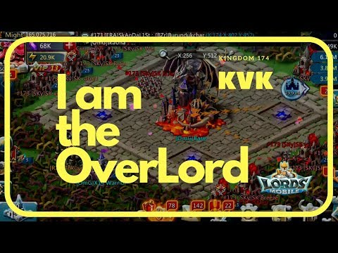 Lords Mobile: I Am The Overlord! | Attacking Trap Castle Solo (KvK January 11, 2018 Kingdom 174)