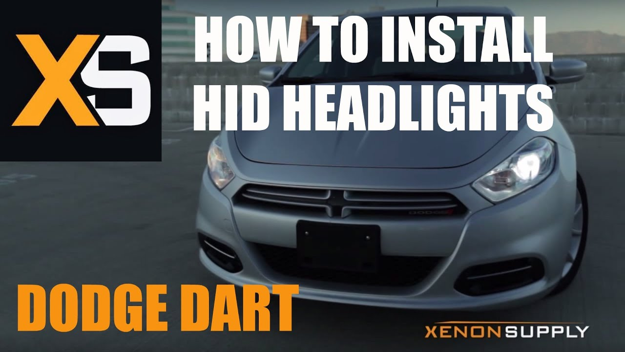 dodge dart hid - how to install hid xenon (/w wiring harness) 2013+