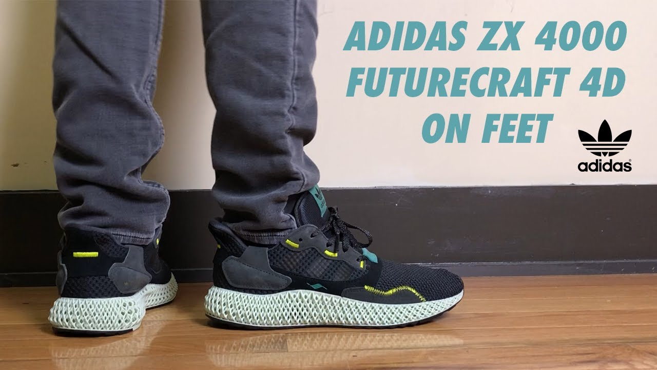 newest 77295 47412 Adidas ZX 4000 Futurecraft 4D Carbon Review and On Feet