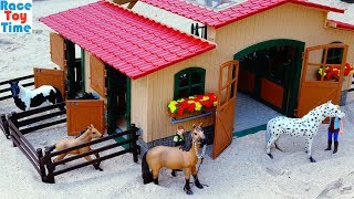 Schleich Stable with Horses Playset For Kids