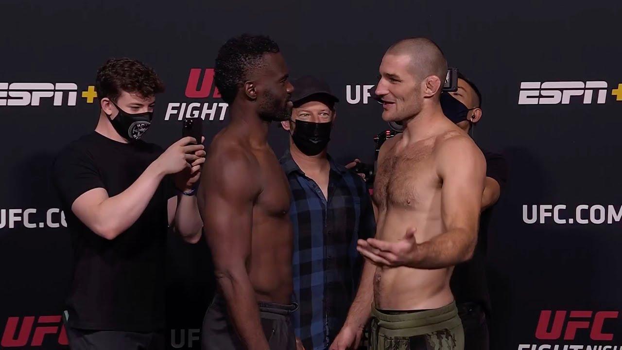 Холл vs Стрикланд - Битвы взглядов UFC Вегас 33