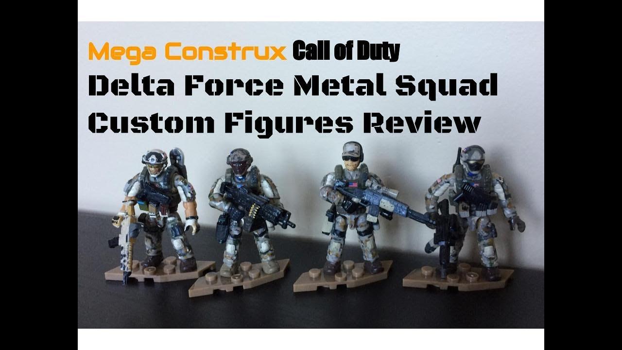 Mega Construx Call Of Duty Custom Metal Team Figure Showcase Youtube
