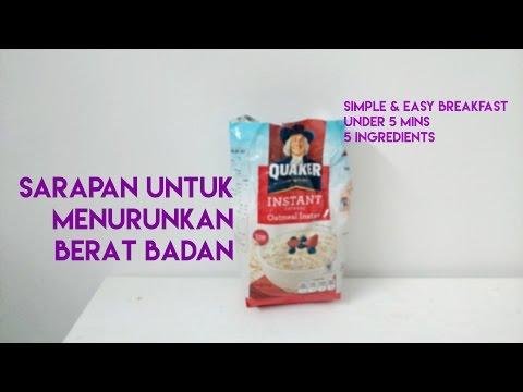 oatmeal - menu sarapan utk menurunkan berat badan