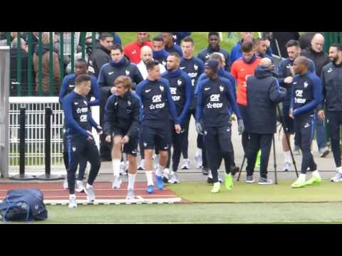 Kylian Mbappé ● Antoine Griezmann ● Florian Thauvin ● Training French team ● Clairefontaine