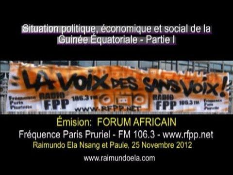 Forum Africain-Guinée Équatoriale Partie 1, Radio Fréquence Paris Pluriel FM106.3