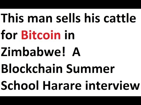 This man sells his cattle for Bitcoin in Zimbabwe!  A Blockchain Summer School Harare interview