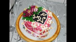 ТОРТ КО ДНЮ СВЯТОГО ВАЛЕНТИНА от SWEET BEAUTY СЛАДКАЯ КРАСОТА. Valentine's day cake decoration