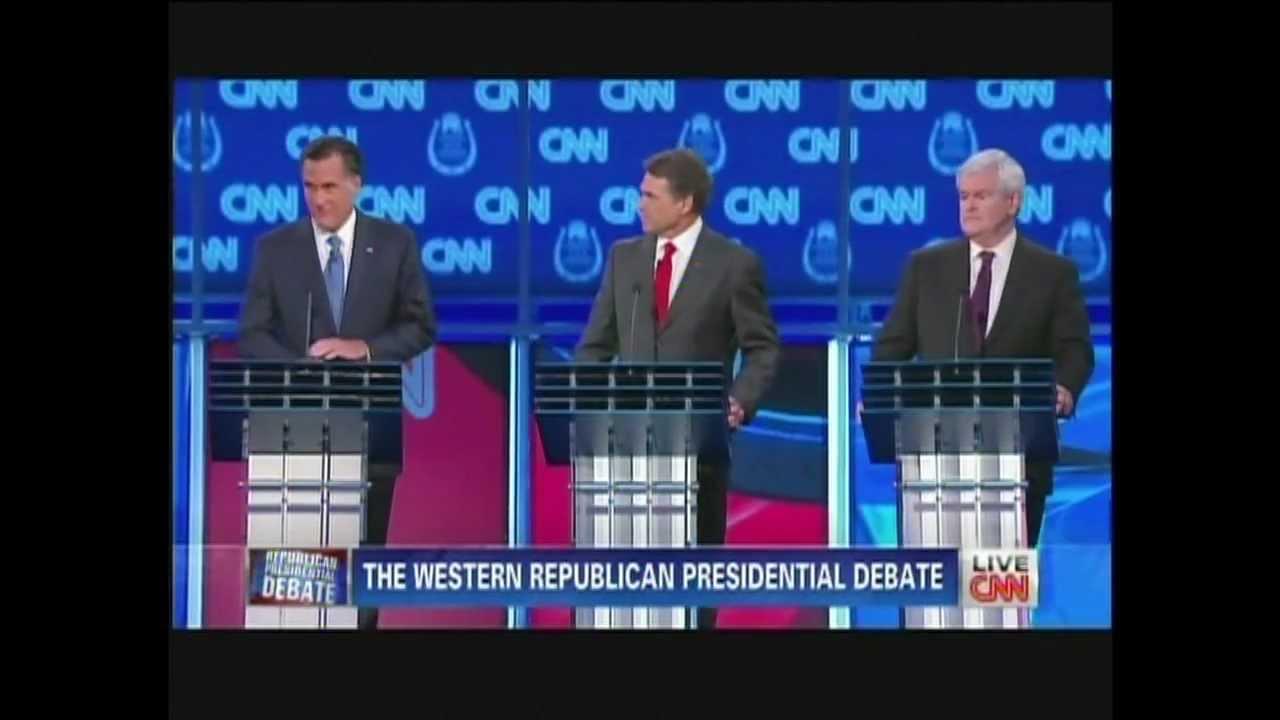 Western Republican Presidential Debate Las Vegas Nevada October 18, 2011 (3/11)