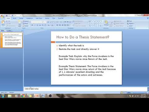 How to Set Up a Thesis Statement - Spread of Islam DBQ