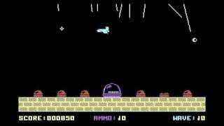 AFTERMATH (Alternative Software) C64 gameplay video of Missile Command rip