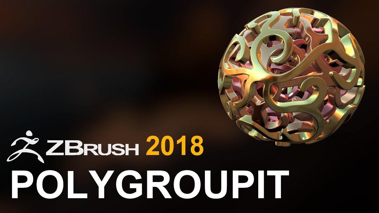 ZBrush 2018: Polygroupit - Random Art Attack