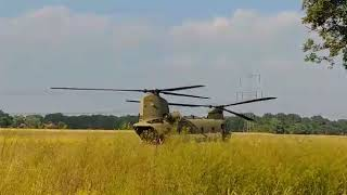 CH 47 Chinook starting after supplying a emergency landed CH 47