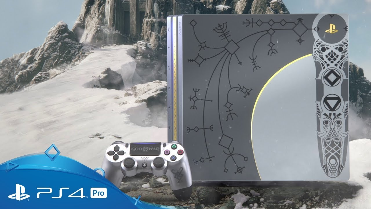 Sony unveils God of War limited edition custom PlayStation 4 Pro