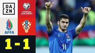 Mutige Aserbaidschaner holen Remis: Aserbaidschan - Kroatien 1:1 | EM-Quali | DAZN