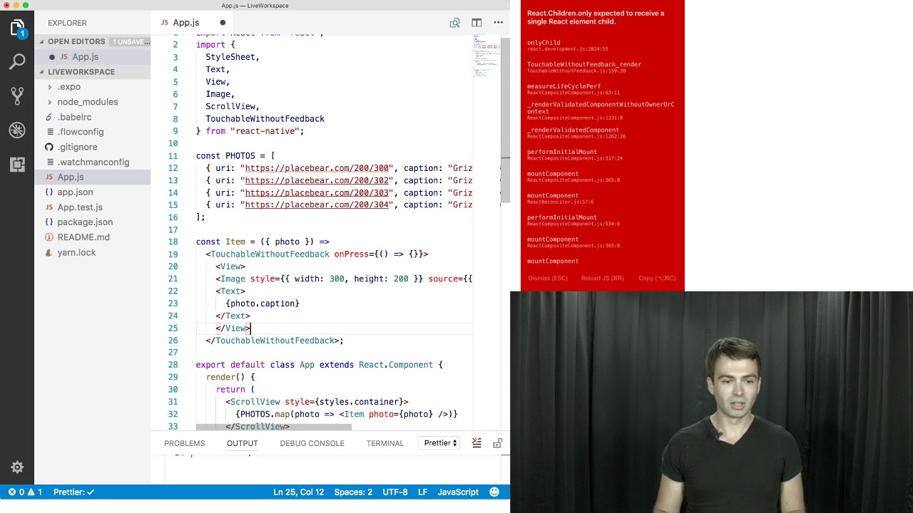 React Native Live #1: Building a Photo Viewer