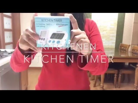 kitchen timer for hearing impaired how to resurface cabinets digital with big digits and strong magnet loud beep comes additional