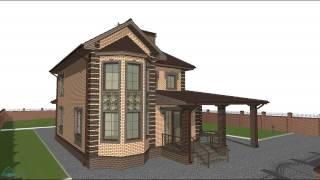 Типовой проект семейного двухэтажного жилого дома с гаражом  C-054-ТП(, 2016-10-24T08:13:51.000Z)