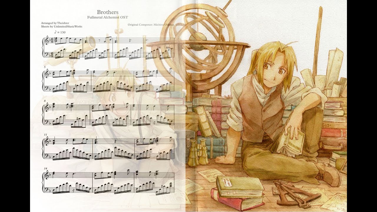 Fullmetal Alchemist Quot Brothers Quot Piano Cover Sheets