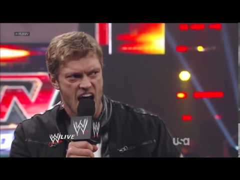 Raw 2012 Edge returns to confront John Cena