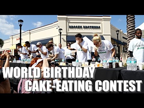 WORLD BIRTHDAY CAKEEATING CONTEST YouTube