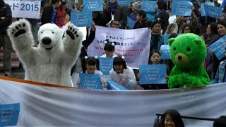 300 march for climate change in Tokyo ahead of COP21