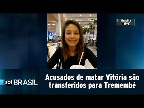 Acusados de matar menina Vitória são transferidos para Presídio de Tremembé   SBT Brasil (20/07/18)