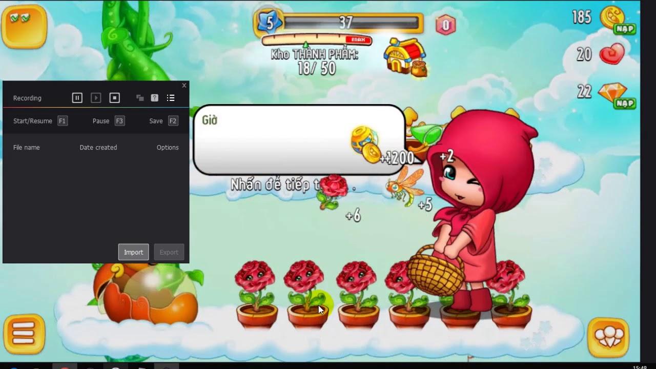 Hướng dẫn hack kim cương game khu vườn trên mây mobile
