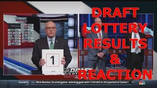 NHL 2017 Draft Lottery LIVE Reaction and Results