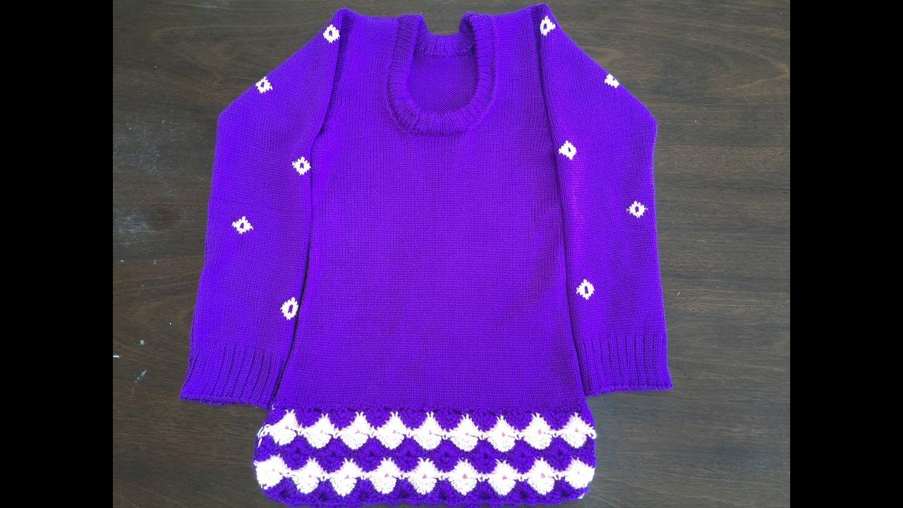 Sweater Knitting Pattern Girl Knitted Sweater Youtube