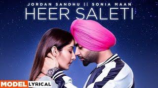 Sonia Maan (Model Lyrical)   Heer Saleti   Jordan Sandhu   Latest Punjabi Song 2021   Speed Records
