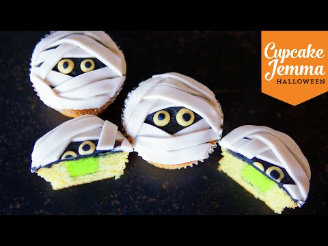 Make Lime Slime-Filled Mummy Cupcakes | Cupcake Jemma | Halloween Special Pics