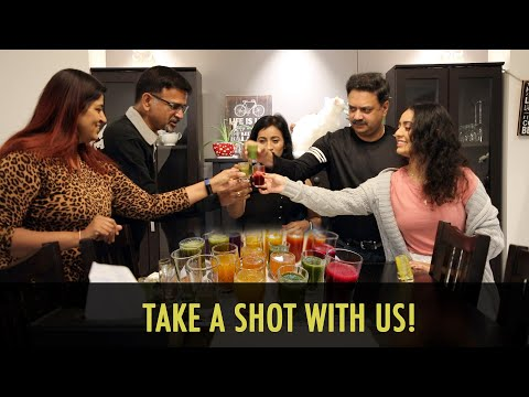 Wellness shots fun challenge with friends | Get healthy with friends
