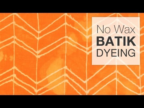 How to Dye Fabric - No-Wax Batik Technique
