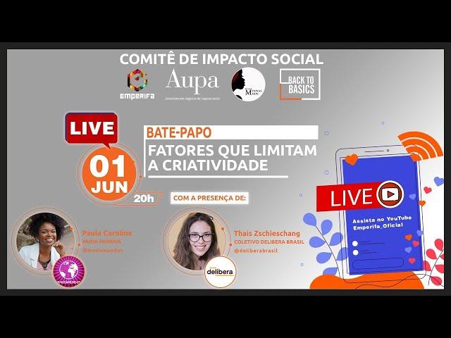 #LIVE: Fatores que limitam a Criatividade