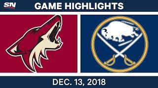 NHL Highlights | Coyotes vs. Sabres - Dec 13, 2018