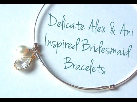 Adjustable Sliding Charm Bracelets Bridesmaid Bracelets ♥ DIY Wedding