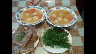 Суп с фрикадельками. Простой рецепт. #суфикс
