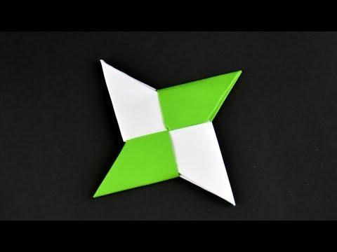 Paper Ninja Star (RELOAD) ★ Shuriken ★ Origami ★ How To Make