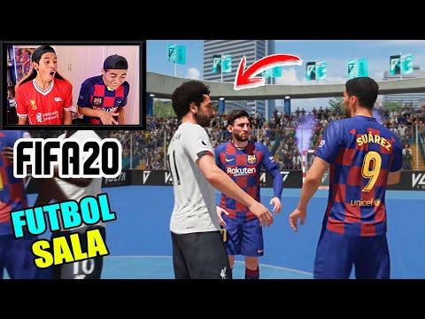 Epic DUELO!!! BARCELONA Vs LIVERPOOL 😱 FUTBOL SALA *Fifa20* - 동영상