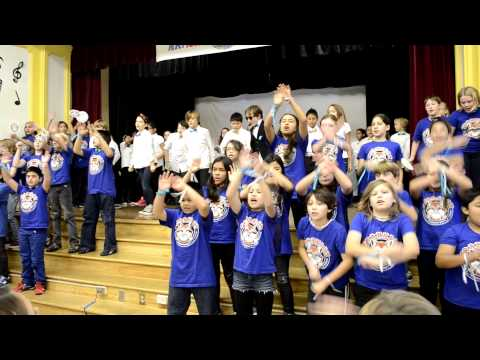 Franklin Ave Elementary School is crazy about Psy Gangnam Style!
