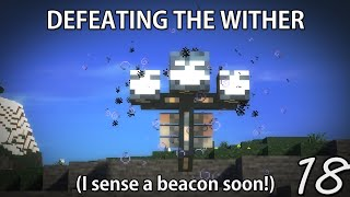 DEFEATING THE WITHER!  Minecraft Hardcore Survival (18)