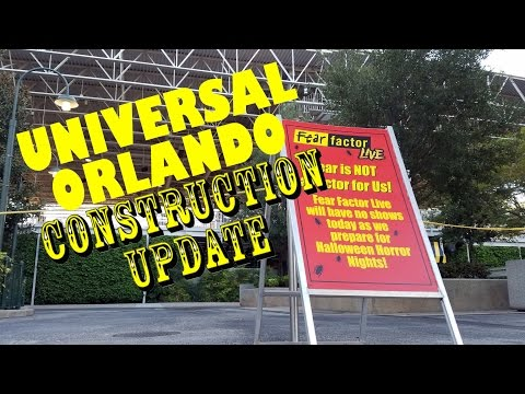 Universal Orlando Resort Construction Update 8.17.16 Horror Nights, Toothsome + So Much More!