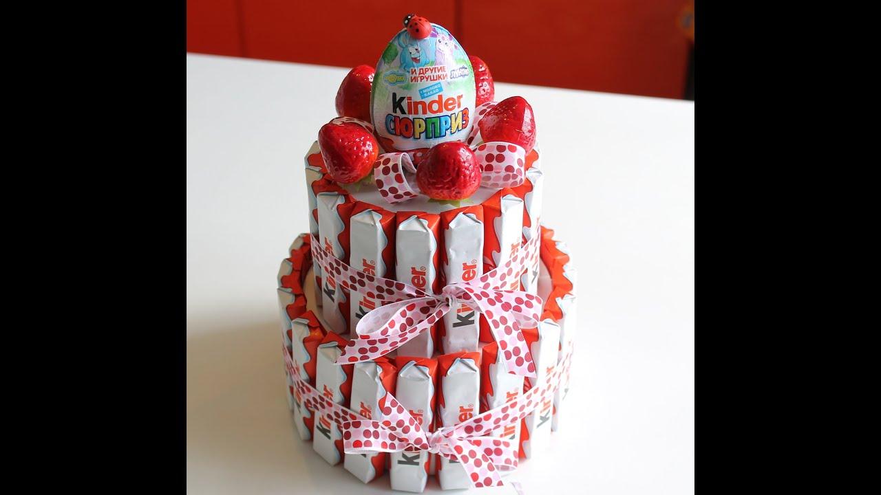 Торт из шоколадок и конфет своими руками