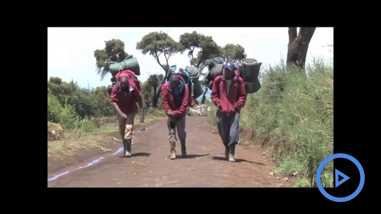 CS Balala joins tourists on a Mt Kenya tour