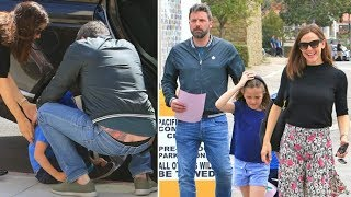 Ben Affleck Gives A Rare Glimpse Of His Back Tattoo At Church With Jen And The Kids